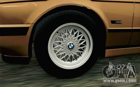 BMW M5 E34 Touring for GTA San Andreas back left view