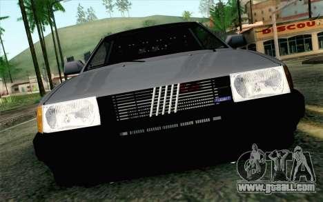 Fiat Regata for GTA San Andreas back view