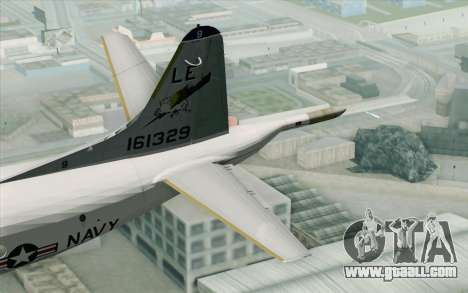 Lockheed P-3 Orion VP-11 US Navy for GTA San Andreas back left view