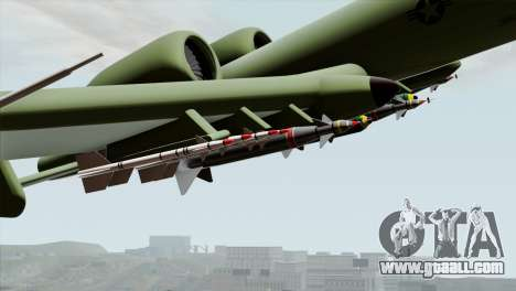 A-10 Warthog Shark Attack for GTA San Andreas right view