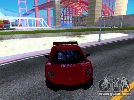 Lamborghini Aventador Novitec Torado for GTA San Andreas inner view