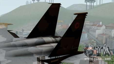 F-15E Yellow Squadron for GTA San Andreas back left view