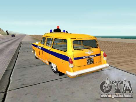 GAS 22 the Soviet police for GTA San Andreas back left view