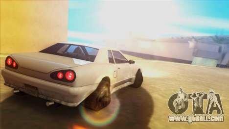 Elegy on the tracks for GTA San Andreas left view