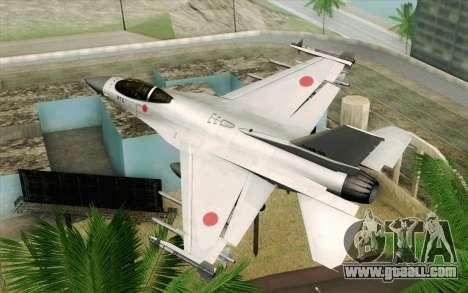Mitsubishi F-2 Original JASDF Skin for GTA San Andreas left view