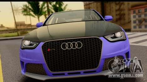 Audi RS4 for GTA San Andreas back left view