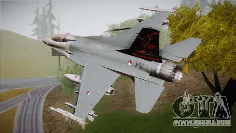 F-16 Fighting Falcon 60th Anniv. of Volkel AFB for GTA San Andreas left view