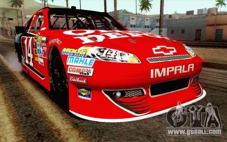 NASCAR Chevrolet Impala 2012 Short Track for GTA San Andreas