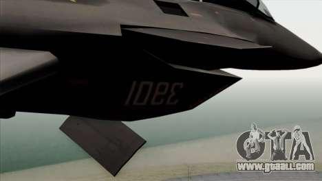 MIG 1.44 China Air Force for GTA San Andreas back view