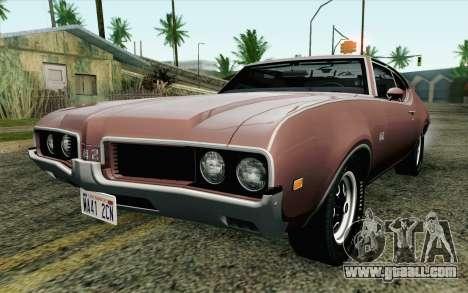 Oldsmobile 442 Holiday Coupe 1969 HQLM for GTA San Andreas