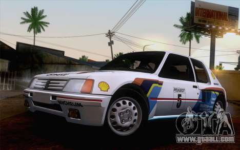 Peugeot 205 Turbo 16 1984 [IVF] for GTA San Andreas upper view