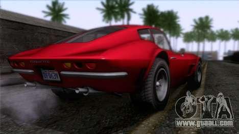 GTA 5 Invetero Coquette Classic HT for GTA San Andreas left view