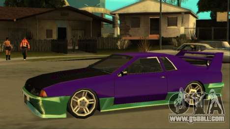 Luni Elegy FIXED for GTA San Andreas back left view