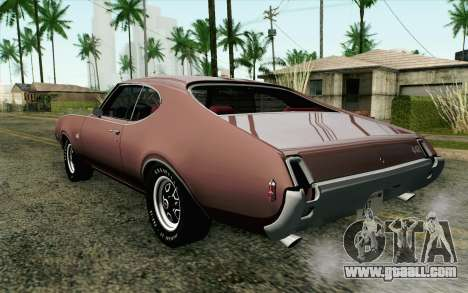 Oldsmobile 442 Holiday Coupe 1969 HQLM for GTA San Andreas left view