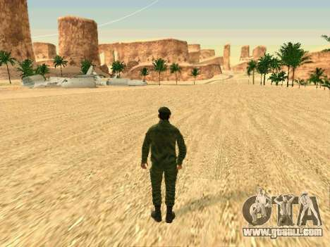 The Russian military is in a new form for GTA San Andreas tenth screenshot