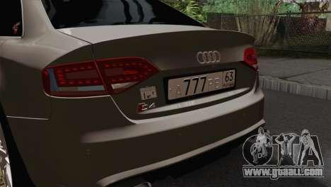 Audi S4 Sedan 2010 for GTA San Andreas back view