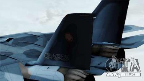 F-14 Japan Air Self Defense Force for GTA San Andreas back left view