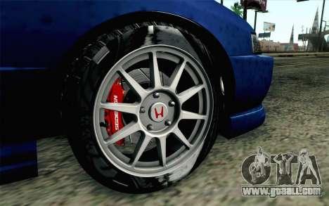 Honda Integra Type R 2000 Stock for GTA San Andreas back left view