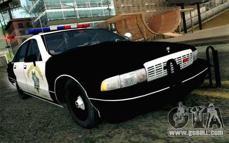 Chevy Caprice SAHP SAPD Highway Patrol v1 for GTA San Andreas