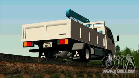 Mitsubishi Fuso Canter 1989 With Crane for GTA San Andreas right view