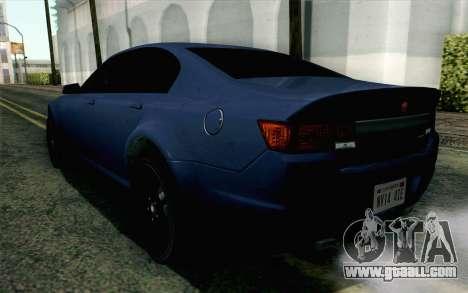 GTA 5 Cheval Fugitive HQLM for GTA San Andreas left view