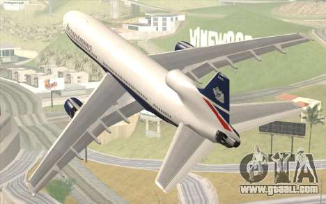 Lookheed L-1011 British Airways for GTA San Andreas left view