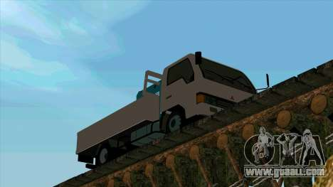 Mitsubishi Fuso Canter 1989 With Crane for GTA San Andreas left view