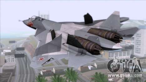 Sukhoi T-50 PAK FA Akula with Trinity for GTA San Andreas left view