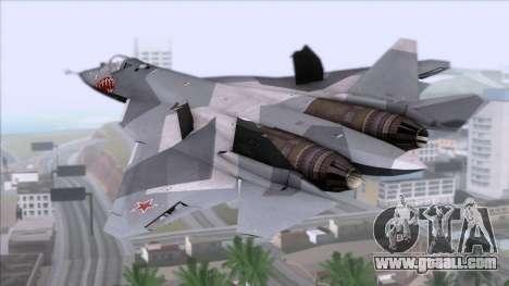 Sukhoi T-50 PAK FA Akula with Trinity for GTA San Andreas left view