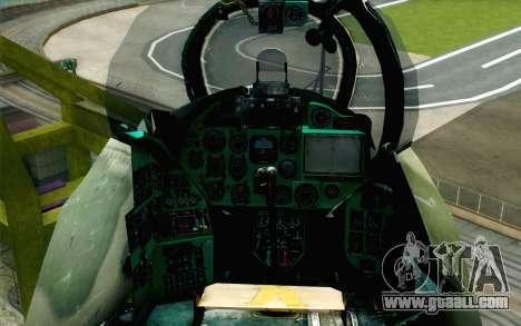 Mi-24D Polish Air Force for GTA San Andreas back view