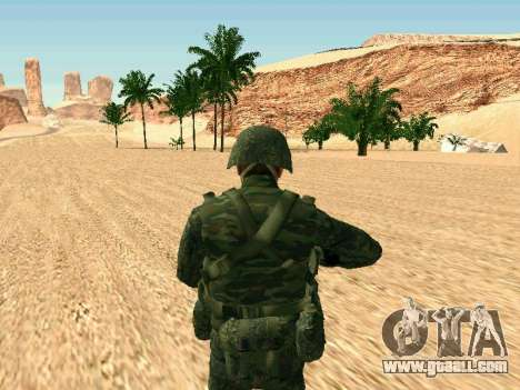 The Russian military is in a new form for GTA San Andreas fifth screenshot