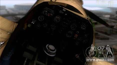 Stanislaw Skalski Supermarine Spitfire MK IXC for GTA San Andreas right view
