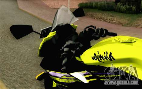Kawasaki Ninja 250RR Mono Yellow for GTA San Andreas back view