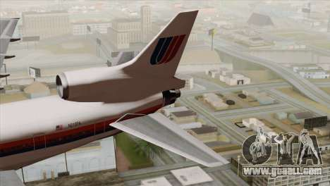 Lookheed L-1011 United Als for GTA San Andreas back left view