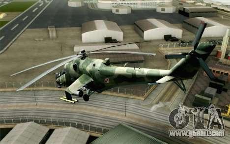 Mi-24D Polish Air Force for GTA San Andreas left view