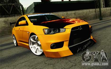 Mitsubishi Lancer Evolution X v2 for GTA San Andreas