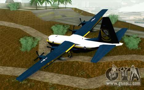C-130H Hercules Blue Angels for GTA San Andreas left view