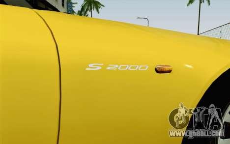 Honda S2000 Cabrio for GTA San Andreas back view