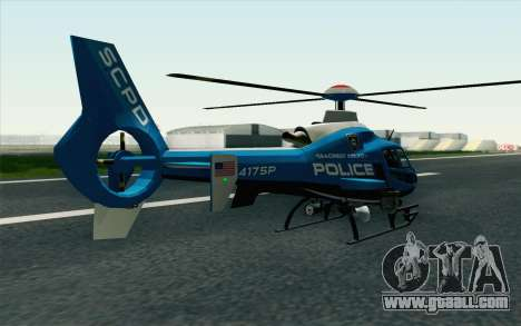 NFS HP 2010 Police Helicopter LVL 2 for GTA San Andreas left view