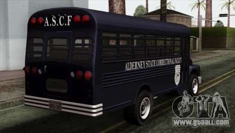 GTA 4 TLaD Prison Bus for GTA San Andreas left view