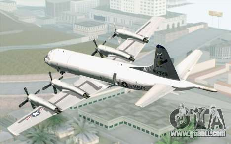 Lockheed P-3 Orion VP-11 US Navy for GTA San Andreas left view