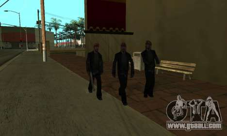 Change areas the gangs and their weapons v1.1 for GTA San Andreas eighth screenshot