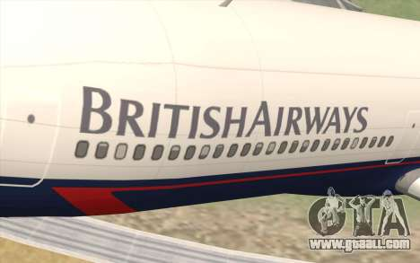 Lookheed L-1011 British Airways for GTA San Andreas back view