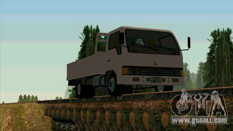 Mitsubishi Fuso Canter 1989 With Crane for GTA San Andreas