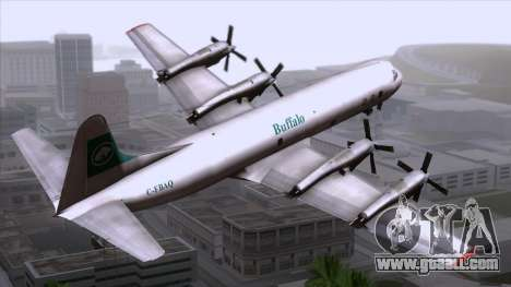 L-188 Electra Buffalo Airways for GTA San Andreas left view