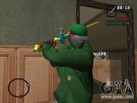 Holy Sword Excalibur for GTA San Andreas second screenshot