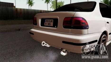 Honda Civic 1.6 for GTA San Andreas back view