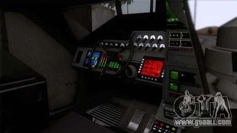 Alien APC M577 for GTA San Andreas back view