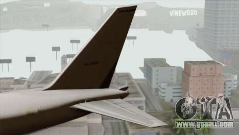 Boeing E-767 Japan Air Self-Defense Force EoJ for GTA San Andreas back left view