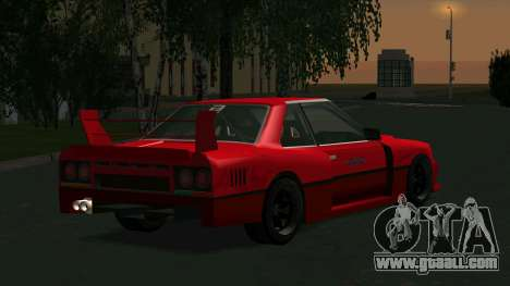 Nissan Skyline RS Turbo F-SPL (R30) for GTA San Andreas back left view